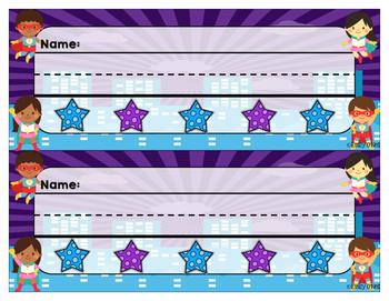 Nameplates (Superhero Theme)