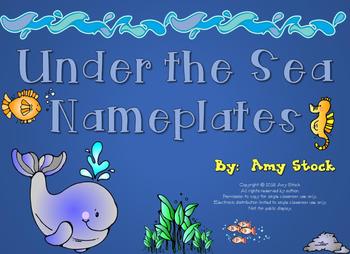 Nameplates: Under the Sea theme