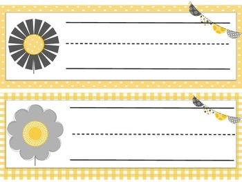 Nameplates Yellow/Grey