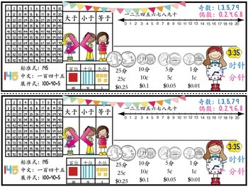 Nameplates for K-2 Chinese learners