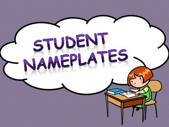 Nameplates for Student Desks