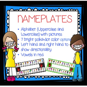 Nameplates with Alphabet (Polka Dot)