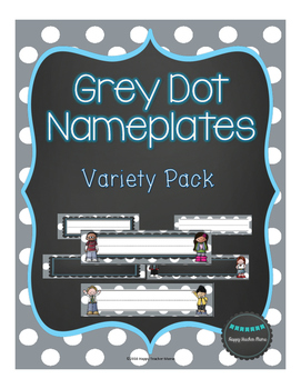Nameplates with Grey Dots