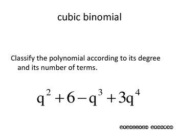 Names & Degrees of Polynomials Scavenger Hunt - PP