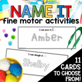 Names Fine Motor Skills Activities Editable