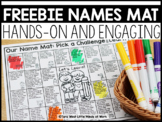 Names Mat DISTANCE LEARNING  | FREEBIE DOWNLOAD |