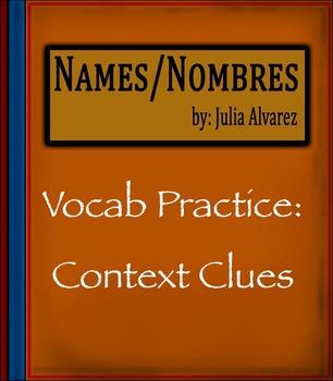 """""""Names Nombres"""" by Julia Alvarez - Vocabulary Practice: Co"""