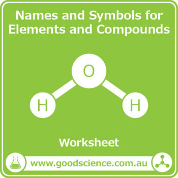 names and symbols for elements and compounds worksheet and flashcards