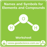 Names and Symbols for Elements and Compounds [Worksheet and Flashcards]