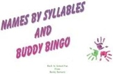 Names by Syllables and Buddy BINGO