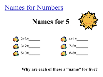 Names for Numbers