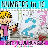 Numbers, Numbers, Numbers! Cut & Paste Number Recogniton Printables to 10