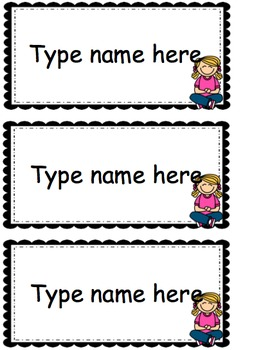 Names- for {Write the Room} or any Name Activity