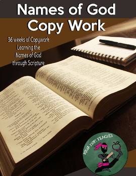 Names of God- A full year of Copywork Through the Bible- No Prep