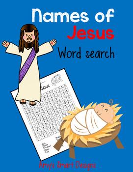 Names of Jesus Wordsearch Freebie