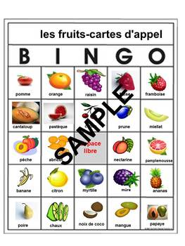 Names of fruits in French