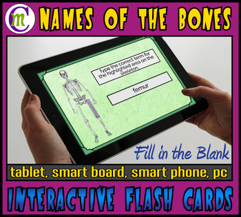 Names of the Bones Boom Cards | Fill-in-the-Blank Flash Cards