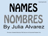 Names/Nombres by Julia Alvarez Activities (ELL)