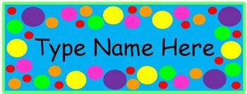 Desktag: Color Polka Dots