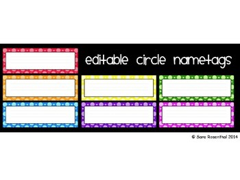 Nametags - Colorful Dots *NOW EDITABLE*