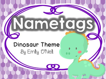 Nametags (Dinosaur Theme)