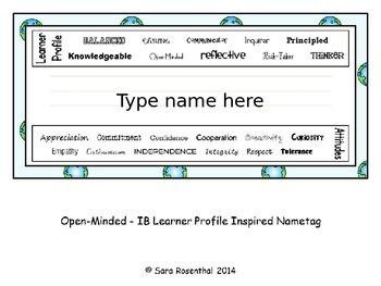 Nametags - IB Editable