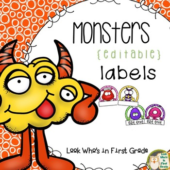 Monster Labels/Small Nametags {Editable}