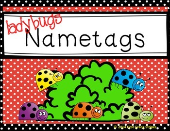 Nametags-Ladybugs Theme-Red, Green, & Black