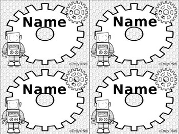 Nametags (STEM-sational Theme)