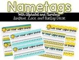 Nametags {Sunshine, Lace, & Burlap Decor.}