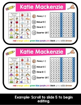 Name Tags for Tables/Desks or Pencil Boxes