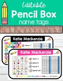 Editable Pencil Box Name Tags