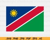Namibia National Flag, Namibian Country Banner, SVG Cricut - EPS AI PNG JPG PDF