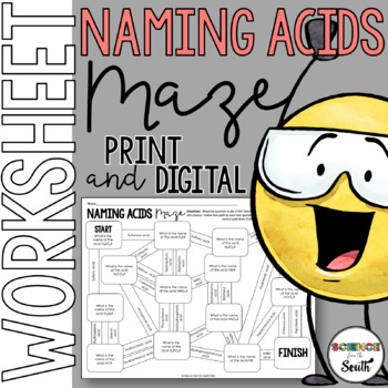 Naming Acids Maze for Review or Assessment