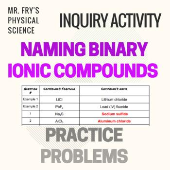 Binary Ionic Compounds Teaching Resources Teachers Pay Teachers