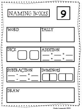 Naming Boxes 2 to 25