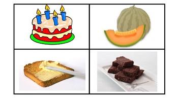 Naming Cards-Food