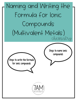 Naming Chemical Compounds (The Growing Bundle)