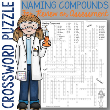 Naming Compounds Crossword Puzzle for Review or Assessment of Nomenclature