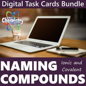 Naming Compounds Digital Task Cards Bundle