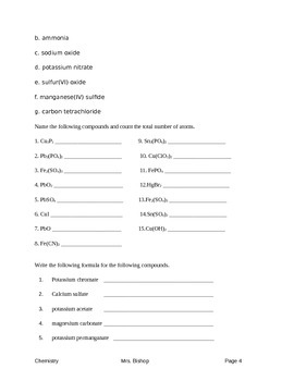 Naming Compounds Packet