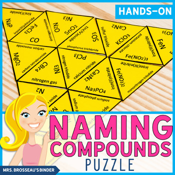 Naming Compounds Puzzle - A Fun Chemical Nomenclature Review!