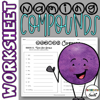 Naming Compounds Worksheet for Review or Assessment
