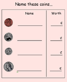 Naming, Counting, and Exchanging Coins SmartBoard Lesson