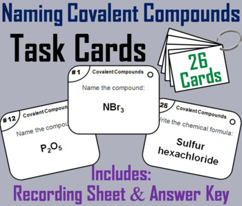 Naming Covalent Compounds Task Cards