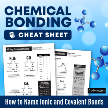 Chemical Bonding Cheat Sheet: How to Name Ionic and Covalent Bonds