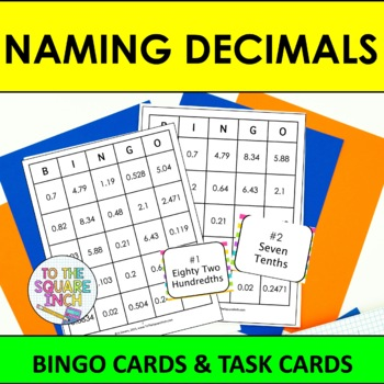 Naming Decimals Bingo