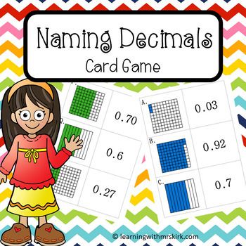 Decimals Card Game