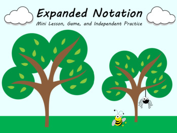 Naming Decimals in Expanded Notation Mini Lesson, Task Cards, Game, and More!