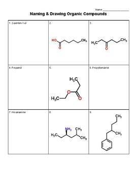 Naming & Drawing Organic Compounds